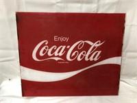 Coca Cola plexiglass sign 18x21