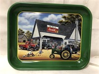 Metal Coca Cola tray 13x10