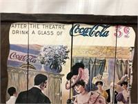 Vintage wood Coca Cola wall hanging 24x19