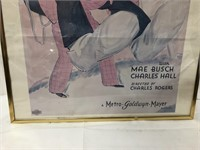 25x19 framed Laurel and Hardy print