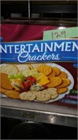 Two large boxes assorted crackers