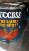 4-100 ounce cans fire roasted red peppers