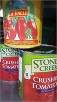 2-100oz cans crushed tomatoes 1 can Italian
