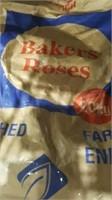 20kg unopened bag Bakers Roses flour