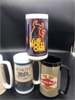 6 Vintage beer thermal mugs