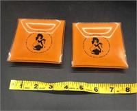 The Playboy Club Small glass ashtrays