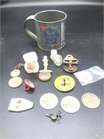Miscellaneous items in a '83 Pabst Blue Ribbon