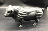 "6""x12"" Cast Iron bull Bank"