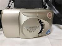 Vintage Sears Binoculars snd Olympus Camera