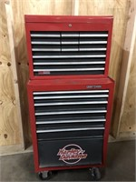 Two piece Sears craftsman rolling toolbox-59