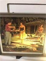 VERY RARE WORKING Falstaff St Louis Clock/Light