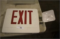 EXIT SIGN W/LIGHT