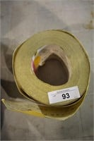 "PART ROLL OF 120 GRIT 3-1/2"" SANDPAPER"