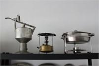 Antique Burner and Kitchen Gadgets