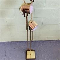 Iconic Brass Floor Lamp by Geoffredo Reggiani