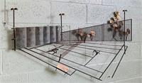 """C. Jeri Tennis Match Player Art, 53"""" long x 29""""H"""