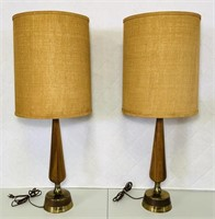Danish Lamp Set, Possibly Modeline? Very Nice,