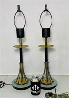 "Pair of Atomic Lamps, 26"" High"