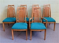 (6) Drexel Cane Back Padded Seat Chairs