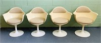 (4) Daystrom Tulip Base Dining Chairs