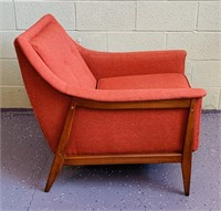 Mid Century Lounge Chair, Salmon Color