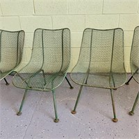 (4) Green Russell Woodard Sculptura Side Chairs