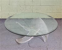 Mid Century Lucite Propeller Coffee Table