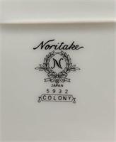 Noritake Colony 5932 China Set, white w/Platinum