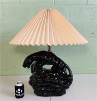 Black Panther Ceramic Lamp W/Shade