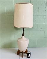 """Wood/ Ceramic Lamp/ Shade, 42"""" total Height"""