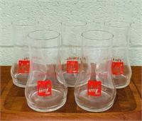 7up Glasses, Set of 5