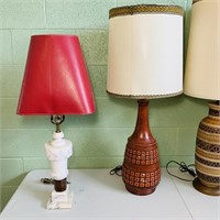 4 Vintage Lamps, all 4 work