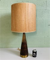 "Brass Lamp w/Shade, 34.5"" total height"