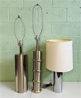 3 Chrome Lamps