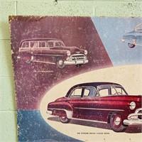 1952 Chevrolet Cardboard Dealership Sign