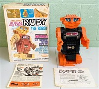 1968 Rudy The Robot Motorized Robot in Box,