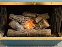 Wall Mount Electric Fire Place, Log lights up