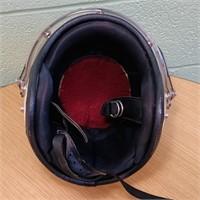 Vintage 60's white w/Black Stripes Helmet