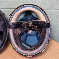 2 Vintage Motorcycle Half Helmets,Black is Buco