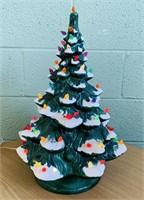 "Ceramic Christmas Tree, Lights up, 21"" high x 15""w"