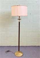 """Brass Lamp with Shade, 58"""" high"""