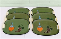 6 Hand Painted in Japan Serving Trays