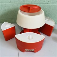 Rubbermaid Lazy Susan Storage Canister Set,