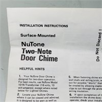 Nos, NuTone Two-Note Door Chime in box, Vintage
