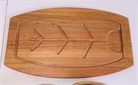 5 Wood Bowls and Wood Serving Platter