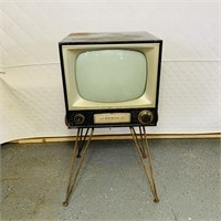Vintage RCA Victor TV on Metal Stand
