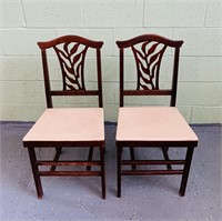 2 Folding Wood Chairs, both are nice