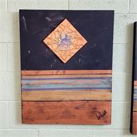 2 Original Paintings on Canvas by Lee Reynolds,