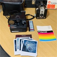3 Vintage Cameras, Polaroid 250 Land Camera