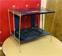Vintage Metal Record Player/ Record Stand